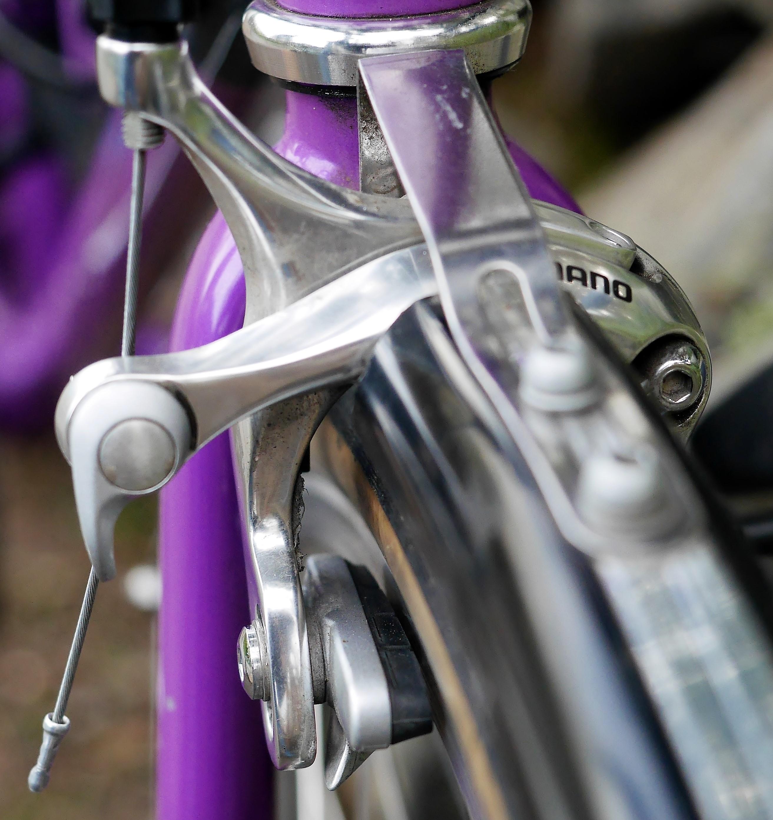 Vintage old school Cantilever Brakes purple  ATB