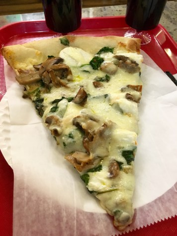 Bianca Pizza with Spinach and Mushrooms