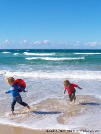 kids running Gold Coast Australia