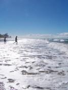 running in the foam Gold Coast Australia