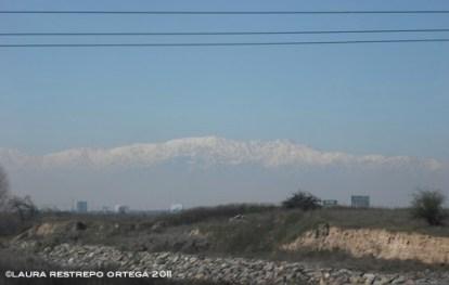 chile santiago andes nevados
