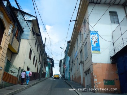 The steep streets of Manizales