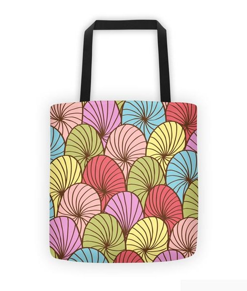 Abstract color tote bag on white