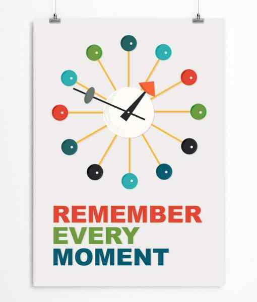 Clock quote print