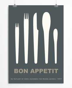 Cutlery by Arne Jacobsen print