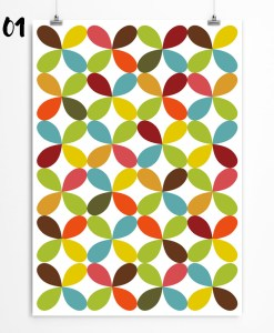 Bright petal print. Nursery wall decro with petal wallpaper. Check on restylegraphic.com