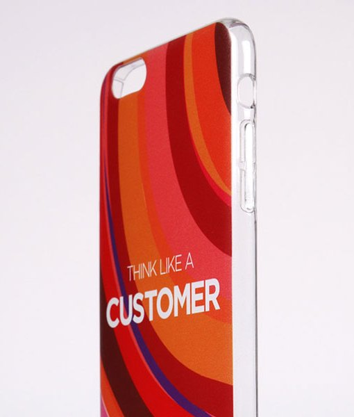 Transparent phone case side
