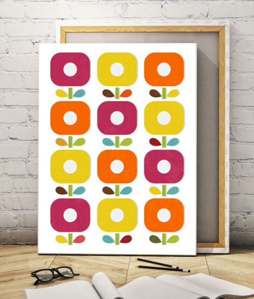 Abstract blossom canvas print vertical