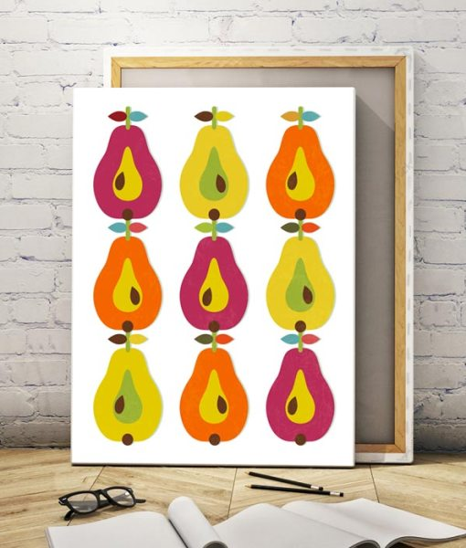 Pears canvas print vertical