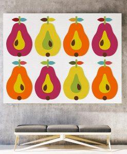 Pear canvas print horizontal