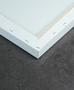 Stretched canvas back white