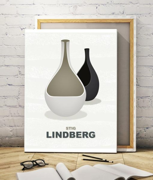 Lindberg vases canvas print light