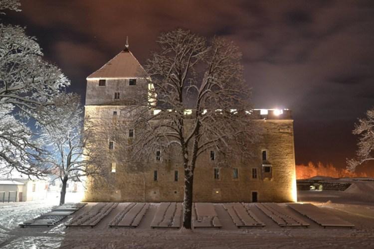 Saaremaa fortress in winter