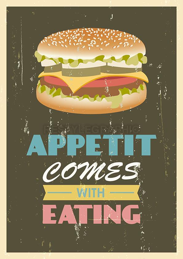 Burger retro poster