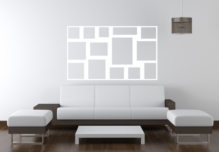 Gallery wall paper template in interior