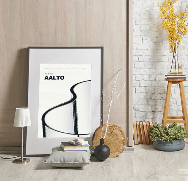 Vase by Aalto print in interior