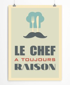 Kitchen print for Chef in france