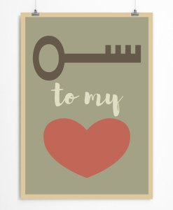 Key to my heart poster