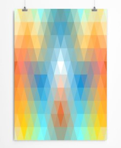 Spectrum abstract poster