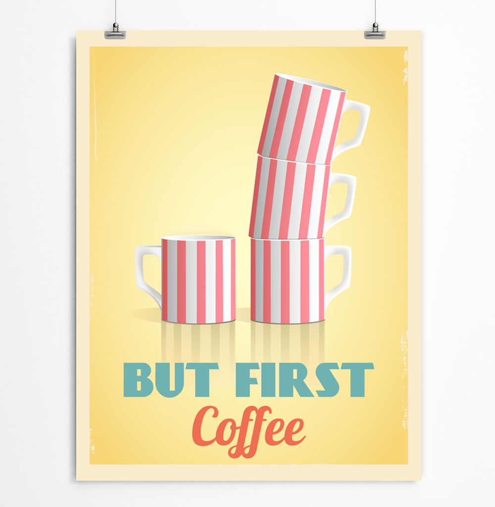 picture regarding But First Coffee Free Printable identify Free of charge Printable Espresso Poster ReStyleGraphic
