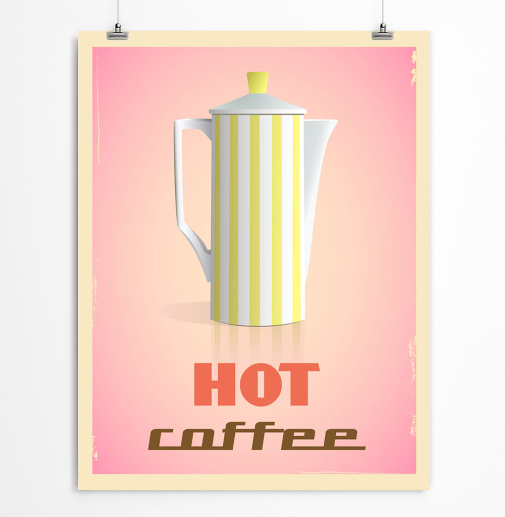 Hot Coffee Printable Poster