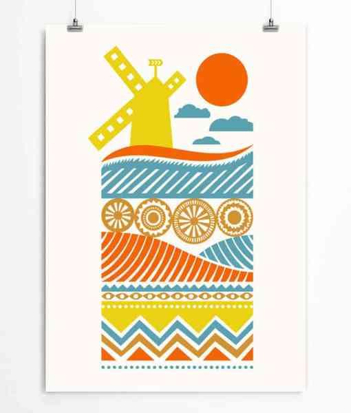 Windmill Art Printable