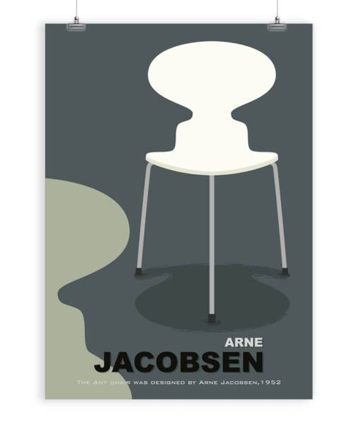 Arne Jacobsen chair art print