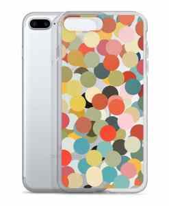 confetti phone 7 plus case transparent