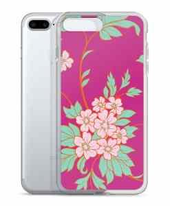flower seamless pink phone 7 plus case