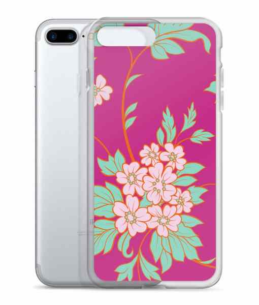 flower seamless pink phone 7 plus case