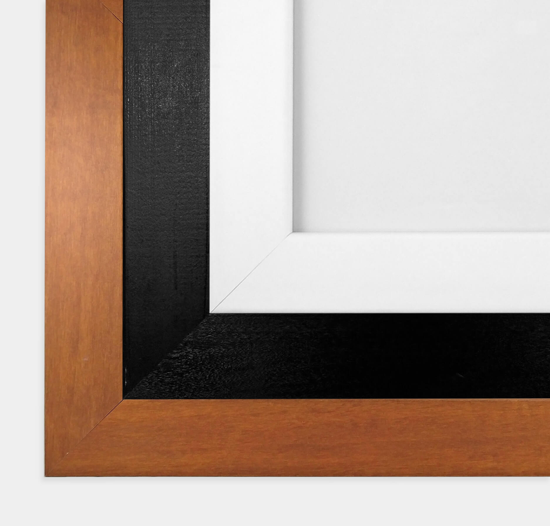 White Black Wood Frames
