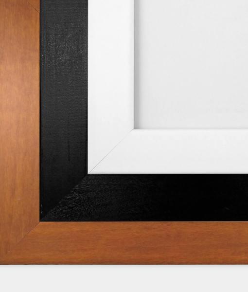 White Black Wood Frames