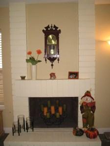 Before fireplace felt cluttered