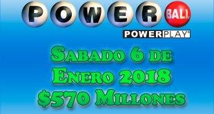 Resultados Powerball 6 de enero del 2018