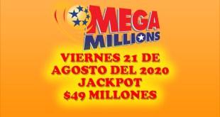 Resultados Mega Millions 21 de Agosto del 2020