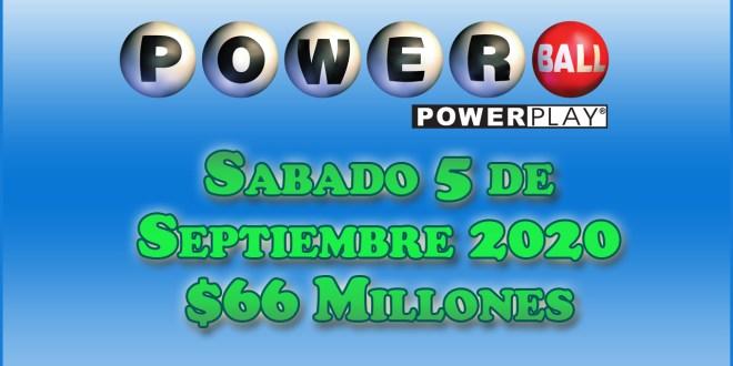 Resultados Powerball 5 de Septiembre del 2020 $66 Millones de dolares