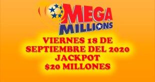 Resultados Mega Millions 18 de Septiembre del 2020 $20 Millones de dolares
