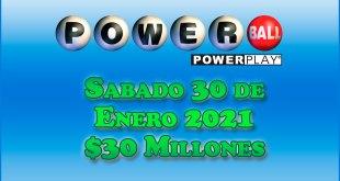 Resultados Powerball 30 de Enero del 2021 $30 Millones de dolares