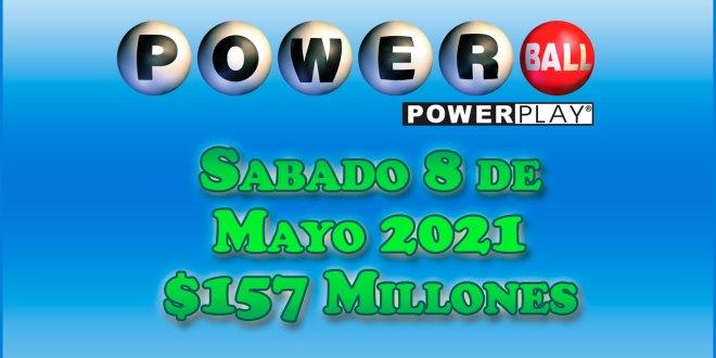 Resultados Powerball 8 de Mayo del 2021 $157 Millones de dolares