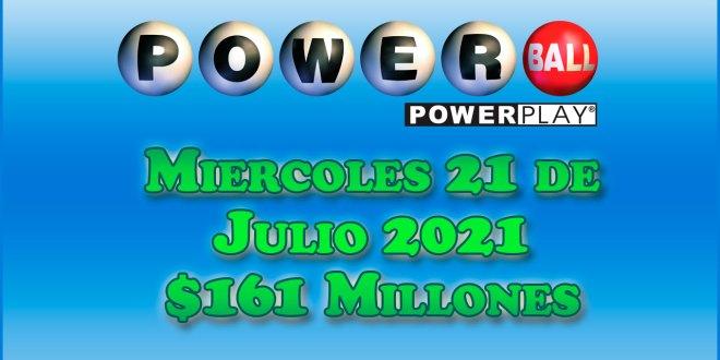 Resultados Powerball 21 de Julio del 2021 $161 Millones de dolares