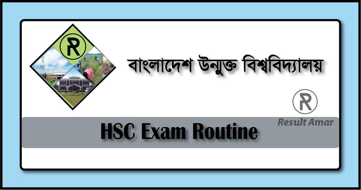 Bangladesh Open University HSC Routine