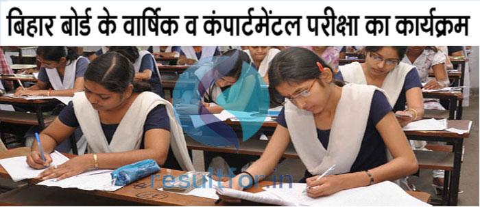 Bihar Board 10th Class exam date time table sheet