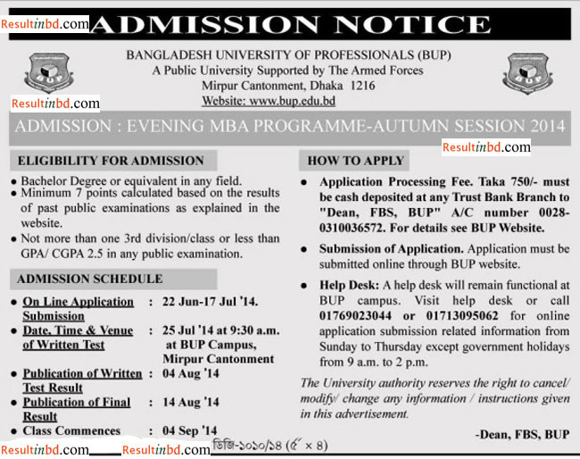 BUP_EMBA_Admission
