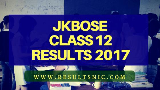 JKBOSE Class 12 Result 2017