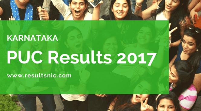 Karnataka PUC Results 2017