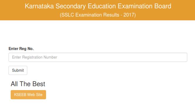 Karnataka SSLC Result 2017 Website