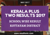 Kerala Plus Two Result 2017 School Wise Result Kottayam District