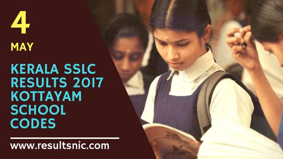 Kerala SSLC Results 2017 School Wise results Kottayam District