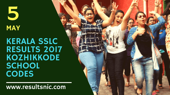 Kerala SSLC Results 2017 School Wise results Kozhikode District Codes