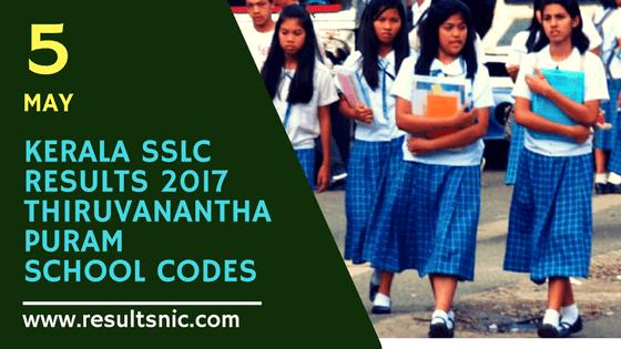 Kerala SSLC Results 2017 School Wise results Thiruvananthapuram District